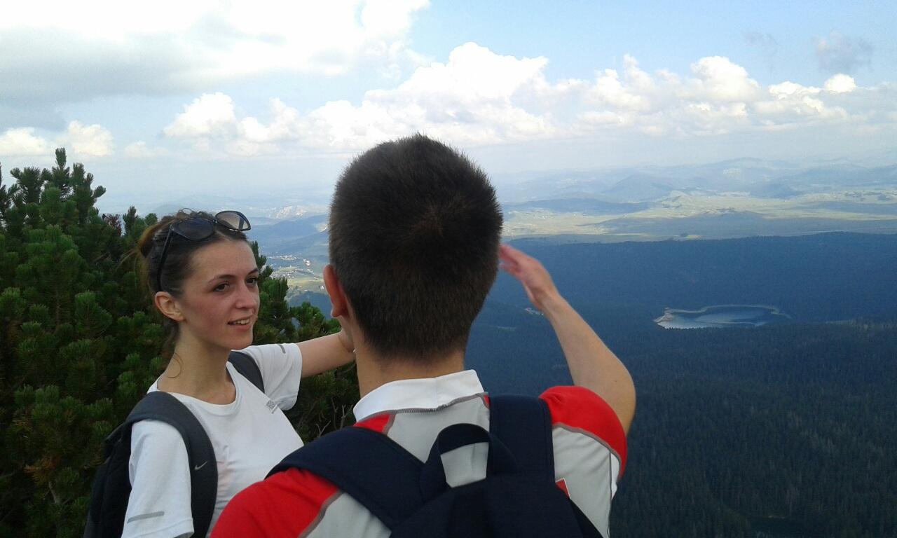 booking accommodation view black lake crvena greda mountain peak durmitor zabljak