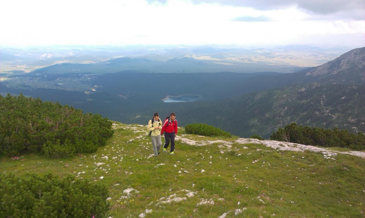 booking accommodation hiking black lake background view crvena greda mountain peak durmitor zabljak